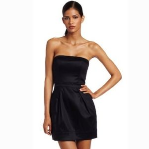 FRENCH CONNECTION Wizard LBD Black Strapless Dress